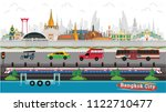 thailand and traffic with... | Shutterstock .eps vector #1122710477