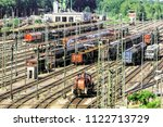 displacement station of a large ... | Shutterstock . vector #1122713729