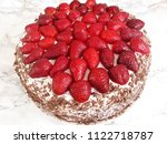 schwarzwald with strawberries | Shutterstock . vector #1122718787