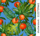 watercolor seamless pattern... | Shutterstock . vector #1122739661