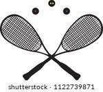 two squash rackets and thee... | Shutterstock .eps vector #1122739871