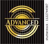 advanced golden badge | Shutterstock .eps vector #1122744587