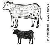 british cuts of beef diagram | Shutterstock .eps vector #1122750971