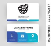 maps and flags  business card...