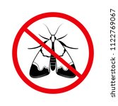 stop moth  insect pests  the... | Shutterstock .eps vector #1122769067