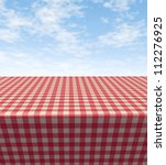 Checkered Tablecloth Table Wit...