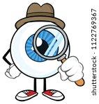 eyeball detective cartoon... | Shutterstock .eps vector #1122769367