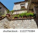 balcony of mediterranean houses   Shutterstock . vector #1122770384