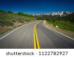 open road and double yellow... | Shutterstock . vector #1122782927