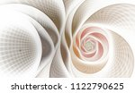 Abstract Fractal With Grids An...
