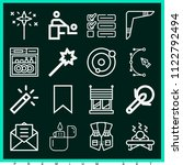 set of 16 other outline icons... | Shutterstock .eps vector #1122792494