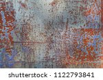 abstract corroded colorful... | Shutterstock . vector #1122793841