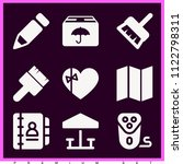 set of 9 other filled icons...   Shutterstock .eps vector #1122798311