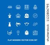 modern  simple vector icon set... | Shutterstock .eps vector #1122806795
