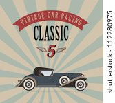 vector of a classic vintage car   Shutterstock .eps vector #112280975
