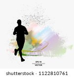 fit young male jogger. healthy... | Shutterstock .eps vector #1122810761