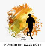 fit young male jogger. healthy... | Shutterstock .eps vector #1122810764