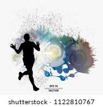 fit young male jogger. healthy... | Shutterstock .eps vector #1122810767