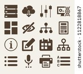 set of 16 interface filled... | Shutterstock .eps vector #1122818867