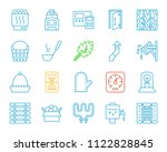 sauna equipment thin line icons ... | Shutterstock .eps vector #1122828845