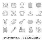 sewing thin line icons set.... | Shutterstock .eps vector #1122828857