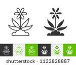 flower black linear and...   Shutterstock .eps vector #1122828887