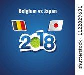 belgium vs japan flags soccer... | Shutterstock .eps vector #1122829631