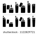 lighter icon set. vector | Shutterstock .eps vector #1122829721