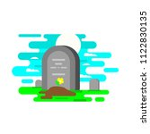 funeral services and funeral...   Shutterstock .eps vector #1122830135