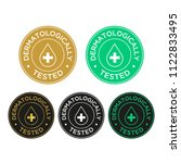 dermatologically tested icon set | Shutterstock .eps vector #1122833495