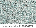 blue mosaic wall background... | Shutterstock . vector #1122834971