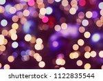 abstract circular bokeh... | Shutterstock . vector #1122835544