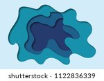 3d abstract background with... | Shutterstock . vector #1122836339