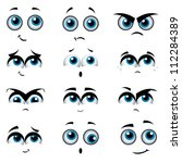 Cartoon Faces With Various...