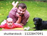happy father with baby | Shutterstock . vector #1122847091