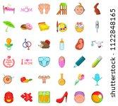 adolescence icons set. cartoon...   Shutterstock . vector #1122848165