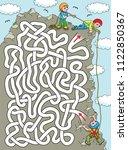climber. help a climber to find ... | Shutterstock .eps vector #1122850367