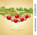 christmas background decorated... | Shutterstock .eps vector #112285151