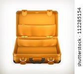 open suitcase  bitmap copy | Shutterstock . vector #112285154