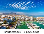 vacation apartments in duquesa... | Shutterstock . vector #112285235