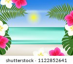 beach tropical plants | Shutterstock .eps vector #1122852641