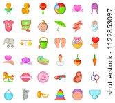 mom icons set. cartoon set of... | Shutterstock . vector #1122853097