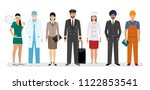 employee and workers characters ... | Shutterstock .eps vector #1122853541