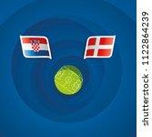 croatia vs denmark flags... | Shutterstock .eps vector #1122864239