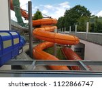 closeup on a twisty  structure... | Shutterstock . vector #1122866747