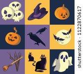 halloween graphics with skulls  ...   Shutterstock .eps vector #1122870617