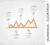 abstract infographics with... | Shutterstock .eps vector #1122874514