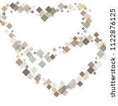 rhombus white minimal geometric ... | Shutterstock .eps vector #1122876125
