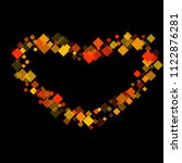 rhombus card minimal geometric... | Shutterstock .eps vector #1122876281