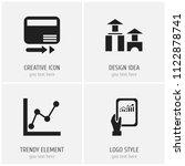 set of 4 editable logical icons....